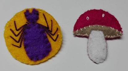 spider mushroom badge